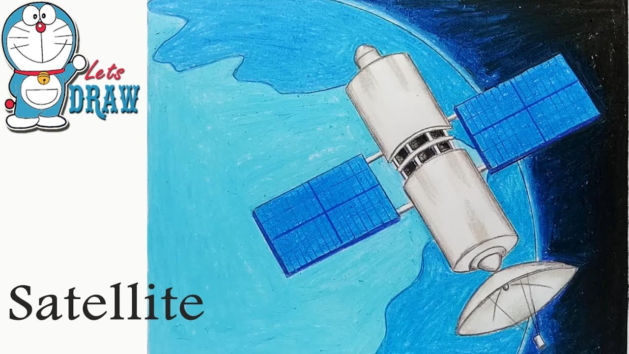 write about artificial satellites drawings