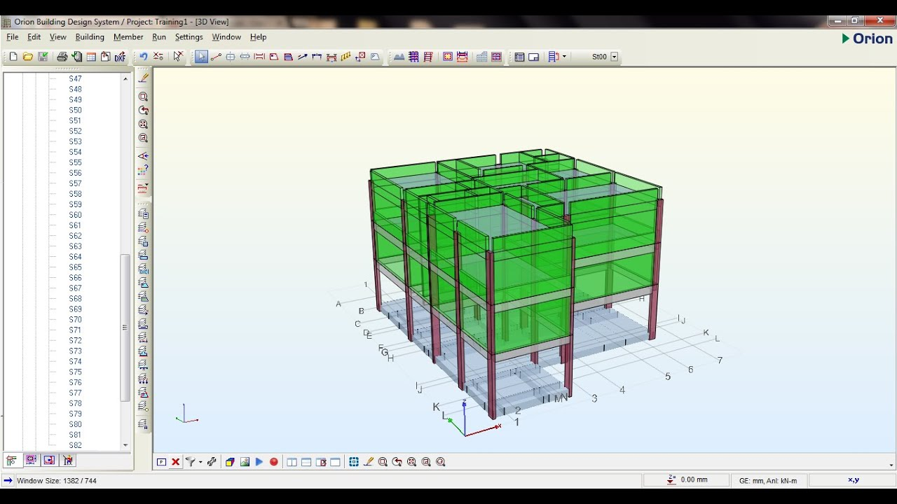 design of raft foundation using orion v18 software youtube rh youtube com