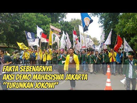Aksi Demo Mahasiswa Jakarta |Tuntut Jokowi Mundur | Di Anggap Tak Mampu Bangun Indonesia