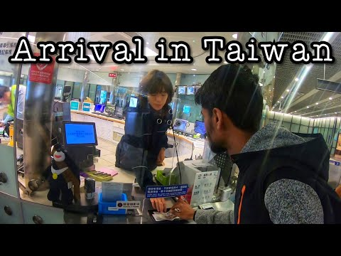 ARRIVAL IN TAIWAN 🇹🇼 - TAIWAN VISA - AIRPORT TO CITY  - SLEPT AT AIRPORT