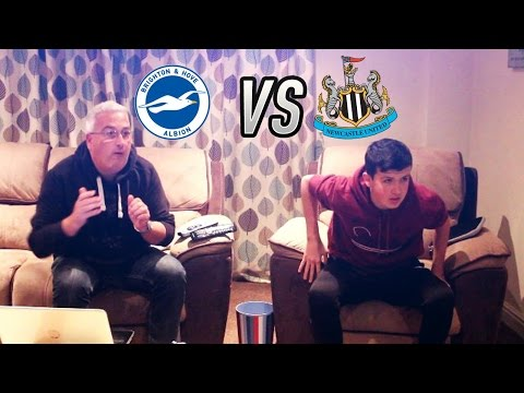 """1-0 UP AND WE FUC*ED IT UP"" - BRIGHTON VS NEWCASTLE  -  28-02-17"