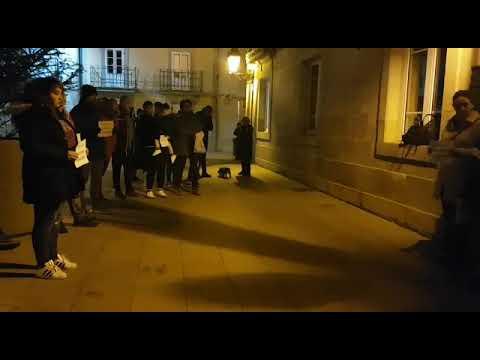 Concentración feminista en Sarria contra as propostas de Vox