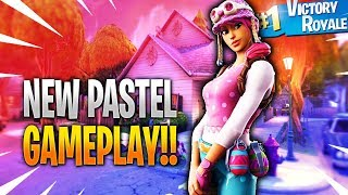 Nova jogabilidade de pele PASTEL no Fortnite Battle Royale..