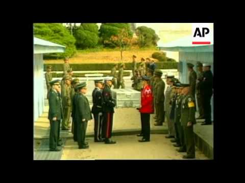 NORTH KOREA: REMAINS THOUGHT TO BE OF US WWII SOLDIER ARE RETURNED