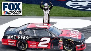 Tyler Reddick talks about his win on a hot day at Charlotte | NASCAR on FOX