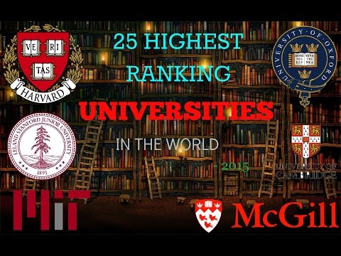 25 Highest ranked University in the World - 2015