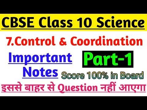 Science Notes Class 10 Chapter-7 Control and Coordination Part-1 | Most  Imp  For Board Exam 2020 |