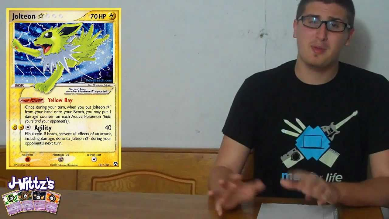 Pokemon Card of The Day: Jolteon Star - YouTube