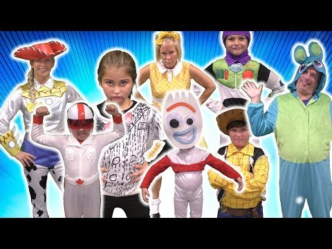 TOY STORY 4 HIDE AND SEEK in the Dark in Real Life Skit vs Gabby Gabby and Benson!