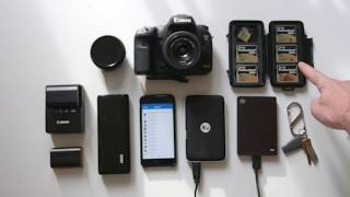 laptop free travel photography set up