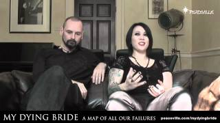 My Dying Bride - Aaron and Lena answer questions at Peaceville HQ