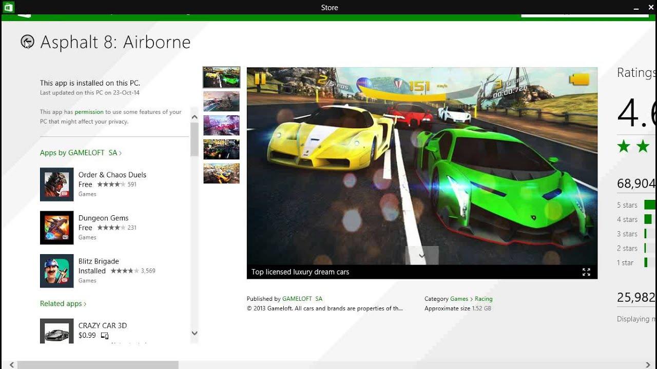 Download the windows 8, 10 racing game asphalt 8: airborne for.