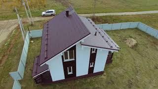 видео Каркасные дома 8 на 8 - проекты, цены на строительство в Санкт-Петербурге