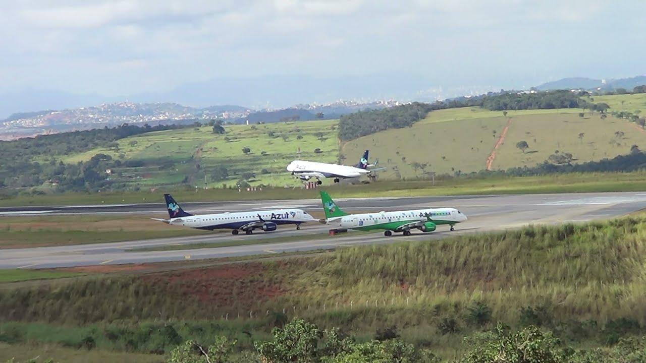 Gol pousando no Aeroporto Internacional de Belo Horizonte   #436988 2304x1296 Banheiro De Avião Internacional