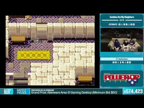 Zombies Ate My Neighbors by lurkchan in 35:42 - Summer Games Done Quick 2015 - Part 123