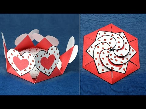 DIY Valentine Card - Hexagon Shape Heart Message Card