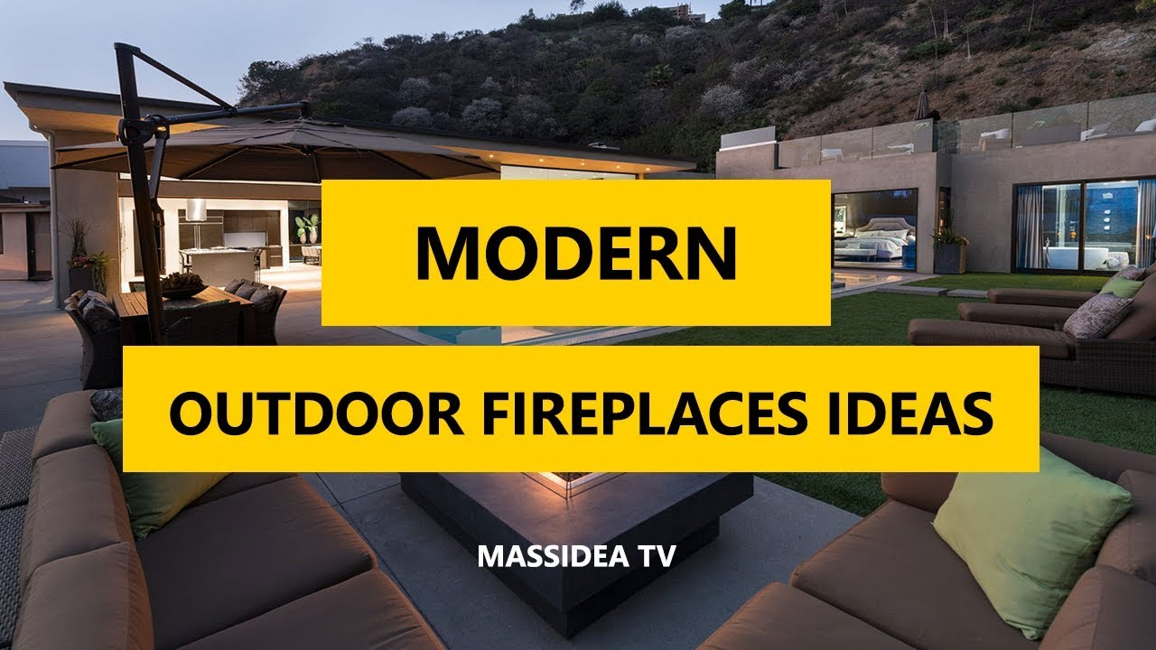 35 Best Modern Outdoor Fireplaces Patio Design Ideas 2018 Youtube