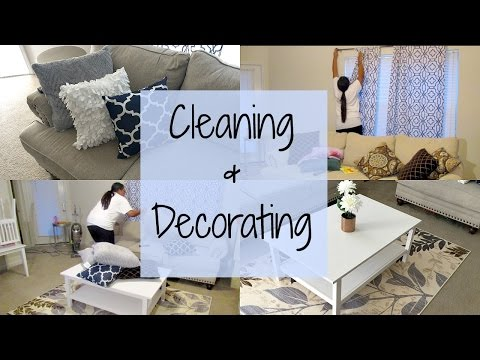 CLEANING & DECORATING THE LIVING ROOM | Destiny's Life