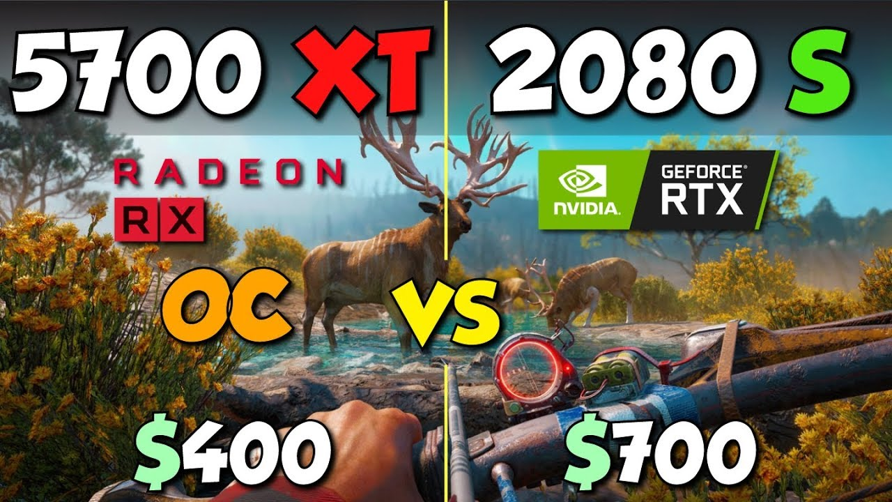RX 5700 XT OC vs  RTX 2080 Super