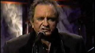 "Johnny Cash (with Marty Stuart) sings ""Rusty Cage"""