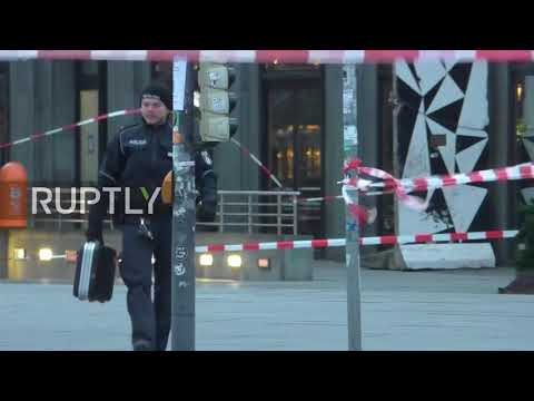 Germany: Terrifying moment bomb squad prise open suspicious case
