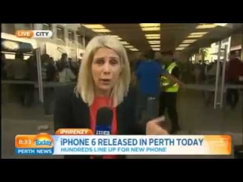 First Buyer's iPhone 6 Soars to Ground Thanks to This NewsCaster!