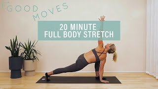 20 Minute Full Body Stretch Routine   Good Moves   Well+Good