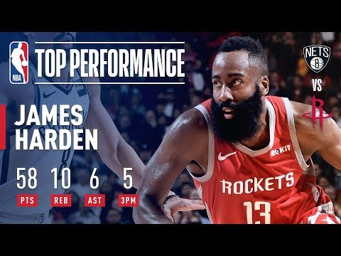 James Harden GOES OFF For 58 Points Against Brooklyn | January 16, 2019