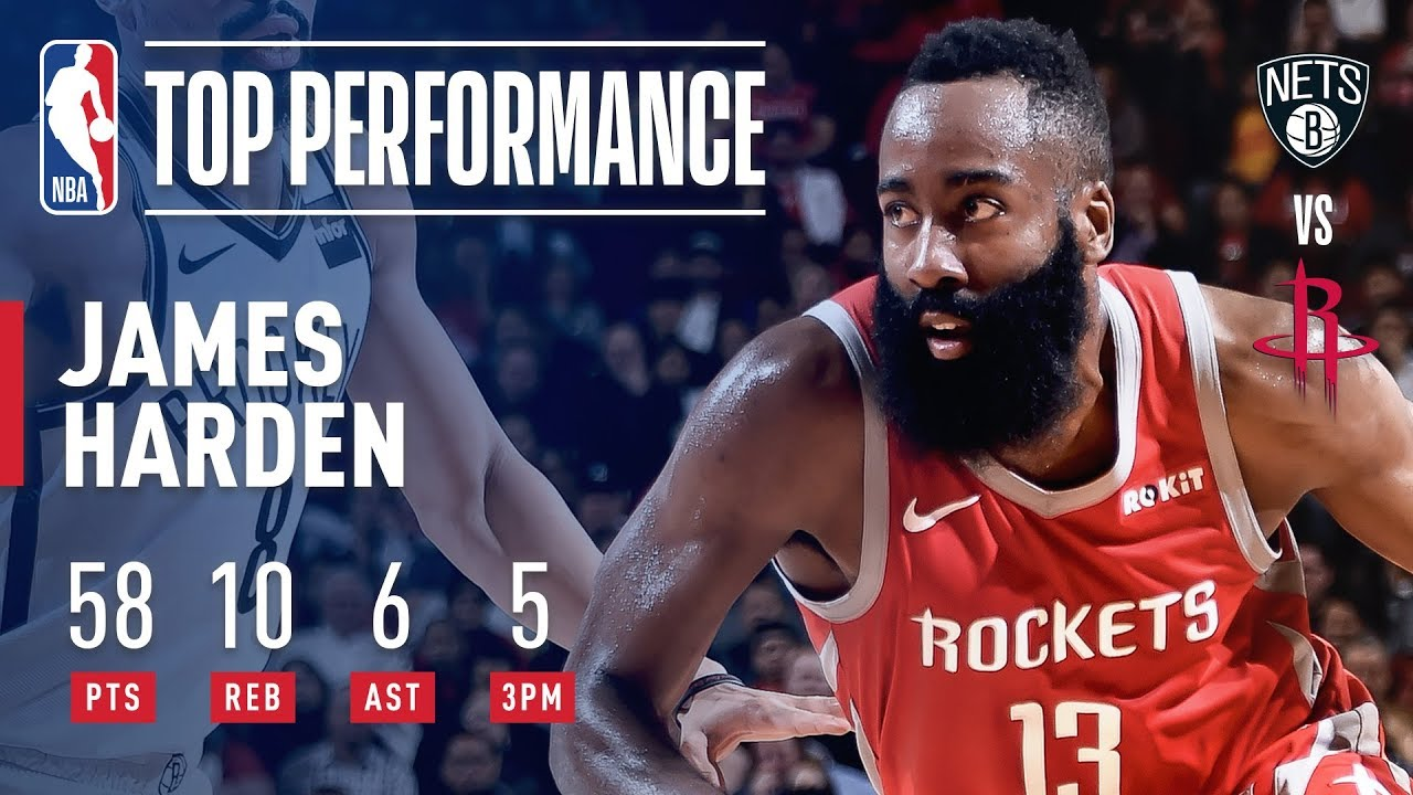 new product dea70 0d9fd James Harden GOES OFF For 58 Points Against Brooklyn   January 16, 2019