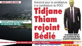Le Titrologue Du Jeudi 11 Juin 2020/ Annoncé Candidat À La Candidature Du PDCI, Tidjane Thiam ...