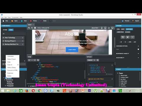 Part 13: How to make scroll page in Bootstrap Studio(website Design)  -Tutorial-2
