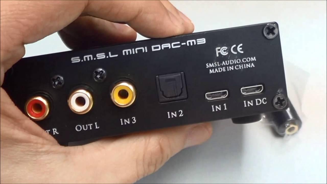 SMSL M3 DAC x Headphone Amp