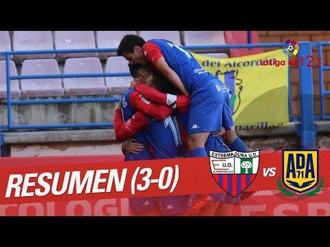 Resumen de Extremadura UD vs AD Alcorcón (3-0)