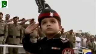 Pakistani Little Solider Abdullah || Wagha Border Amazing Prade