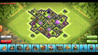 Clash of Clans | New Update 4 Mortars! | Anti Barch | Best TH 9 Farming Base