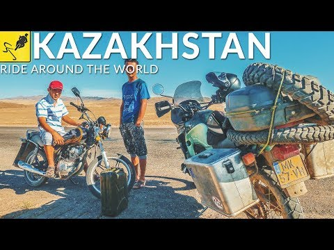 SOLO MOTORCYCLE Around the WORLD, Central Asia - Kazakhstan