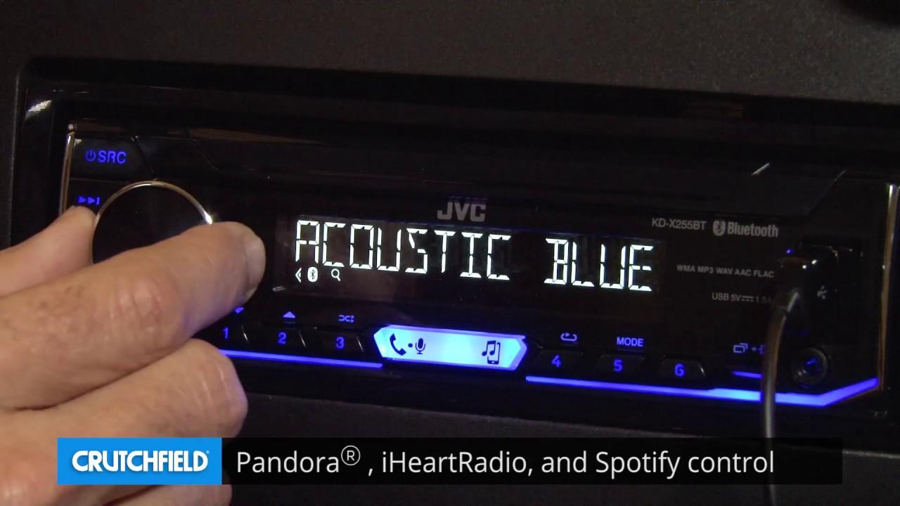 jvc kd x255bt display and controls demo crutchfield video [ 1280 x 720 Pixel ]