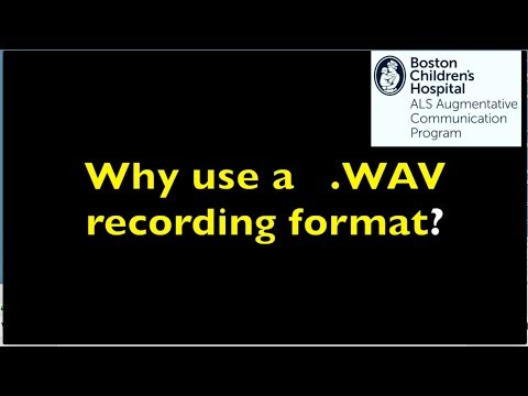 Why use  wav format