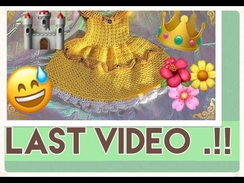 The Beauty and the Beast, (crochet tutorial last part of the dress).!!