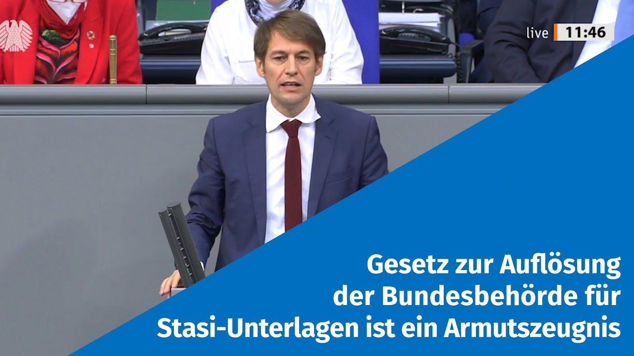 19.11.2020 Gesetz zur Auflösung der Bundesbehörde für Stasi-Unterlagen ist ein Armutszeugnis