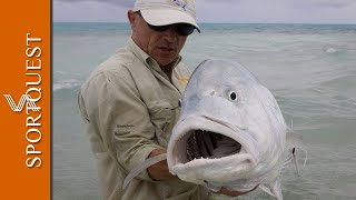 "Fly Fishing For GT's On Christmas Island ""Mind Blowing Action"""