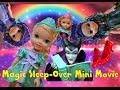 Anna and Elsa Toddlers Magic Sleepover Adventure! Mal and Evie Mini Movie! Disney Descendants Toys