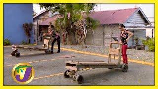 Neville Bell vs Simone Clarke-Cooper Push Cart Race - August 7 2020