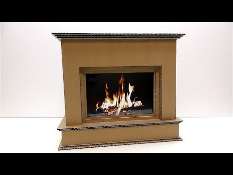 How to make a fireplace out of cardboard decorative - How to put out a fireplace ...