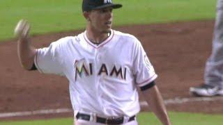 Fernandez shows quick reflexes to grab liner