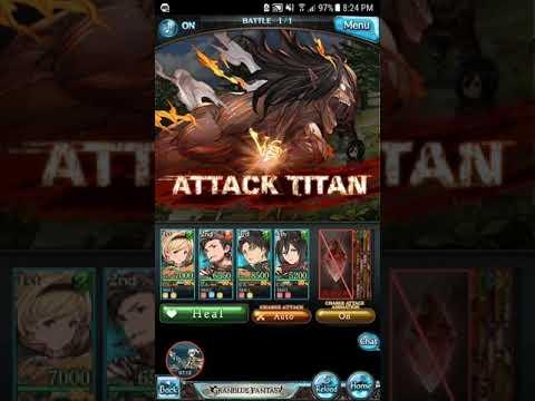 Granblue Fantasy (JPN) - Titanic Yeager Ch 6 Clr+True ED Story (Attack On Titan Collab), Levi Get!