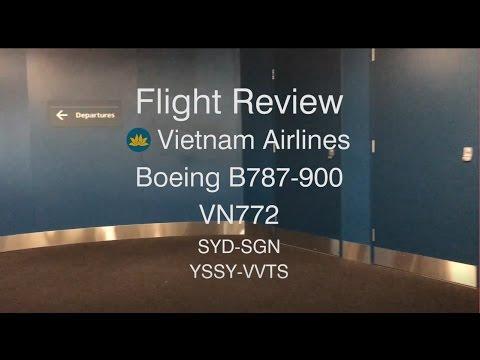 VIETNAM AIRLINES ECONOMY VN772 Boeing 787-900 FLIGHT REPORT [60fps]