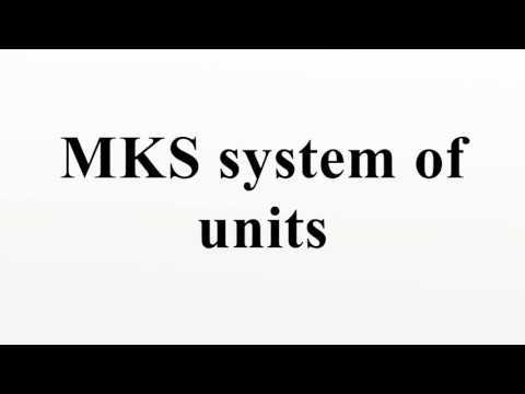 MKS system of units