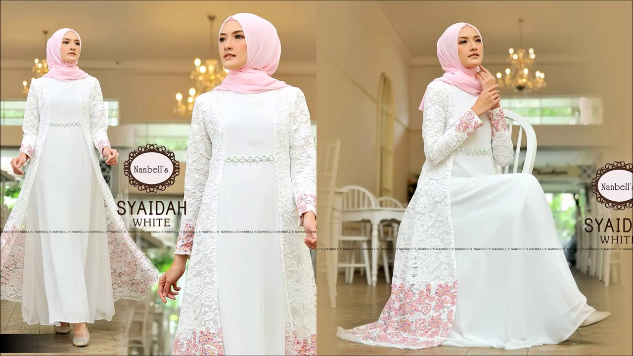 Model Gamis Brokat Elegan Terbaru 2019 Edisi Syaidah Buat Lebaran 2019 2020 Youtube