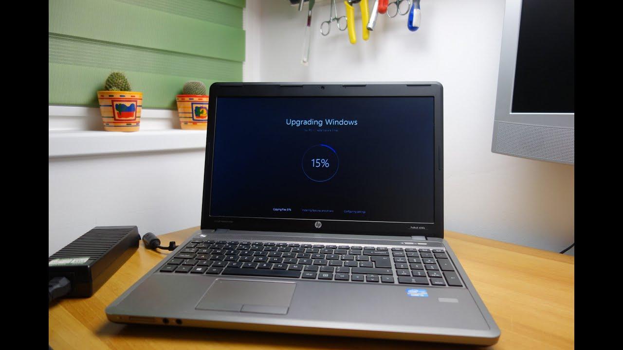 Windows 10 upgrade on HP ProBook 4540s